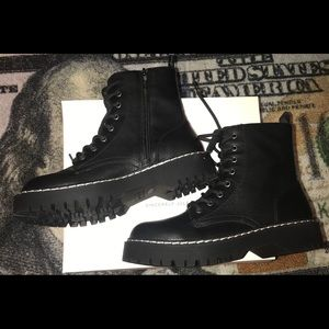 Rare Sincerely Jules Harley Black Combat Boots NWT